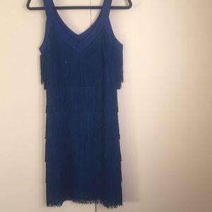 NWT gorgeous blue fringe dress!